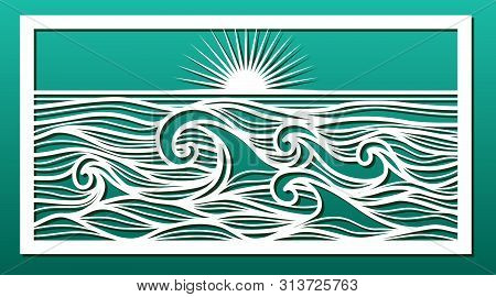 Laser Cut Template. Stencil For Wood Or Metal Cutting Or Carving, Paper Art, Wall Decorative Panel F