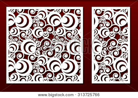 Laser Cut Panels. Stencil For Fretwork, Wood Or Metal Decorative Cutout, Paper Art Templates. Useful