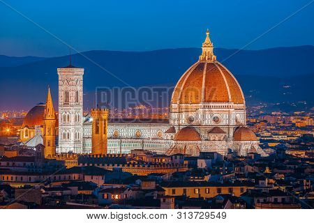 Duomo Of Santa Maria Del Fiore In Florence (saint Mary Of Flower)