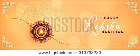 Rakshabandhan Festival Celebration Beautiful Banner Vector Illustration
