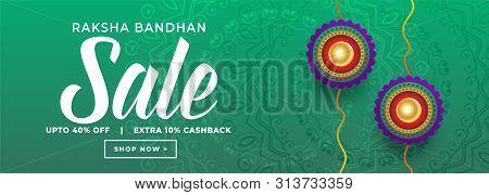 Rakshabandhan Festival Sale Banner Design Vector Illustration