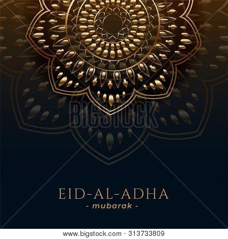 Eid Al Adha Background With Islamic Pattern