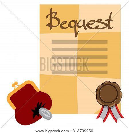 Testament, Bequest Background. Ancient Documents, Wild West Design Elements