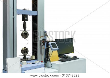 High Technology And Accuracy Of Automatic Two Vises Tensile Strength Testing Machine For Material Pr