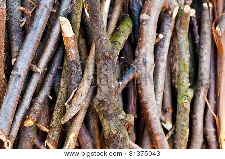 Sticks And Twigs Stack Background