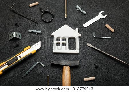 Home Service, Repair Construction. Fix House Background.