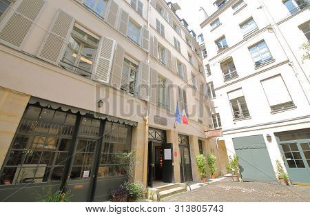 Paris France - May 22, 2019: National Eugene Delacroix Museum Paris France