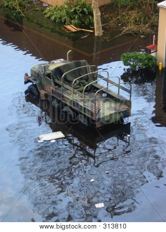 Flood Army Truck