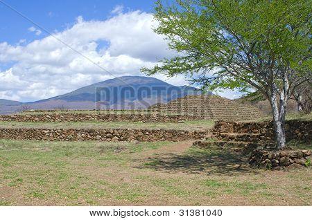 Guachimontones And Mountains Of Teuchitlan