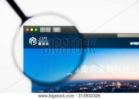 Richmond, Virginia, Usa - 27 July 2019: Illustrative Editorial Of China Internet Nationwide Financia