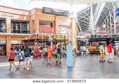 December 17th 2017 - Phuket, Thailand: People Shopping And Eating In Restaurants. This Is In The Jun