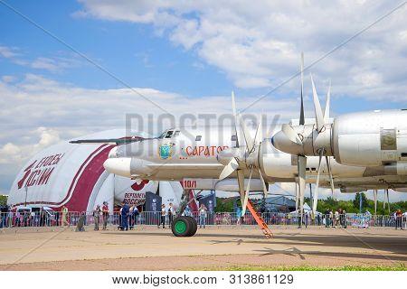 Zhukovsky, Russia - July 20, 2017: The Tu-95ms