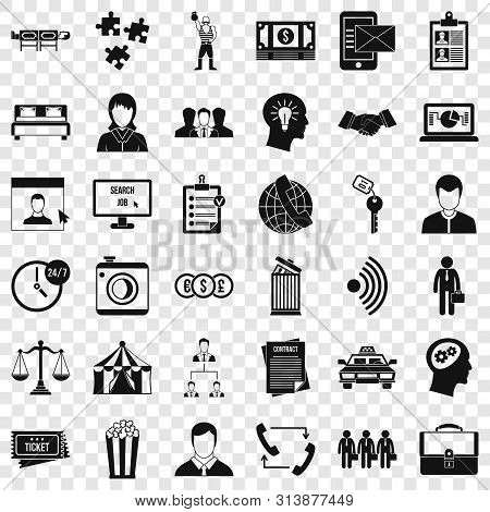 Conformity Icons Set. Simple Style Of 36 Conformity Icons For Web For Any Design