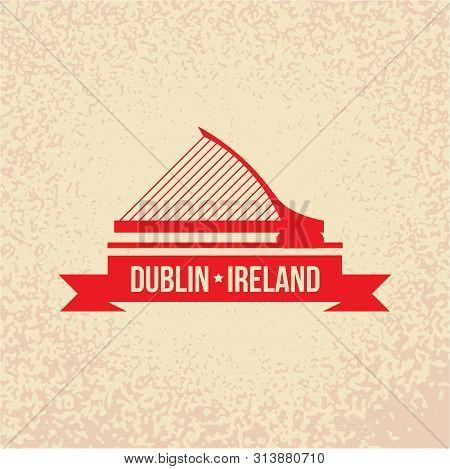 Dublin Ireland, Detailed Silhouette. Trendy Vector Illustration
