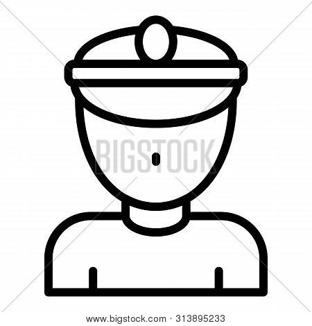 Railway Conductor Icon. Outline Railway Conductor Icon For Web Design Isolated On White Background