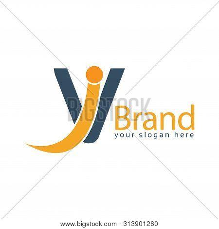Vi Logo Template, Vi Letter, Flat Design. Vector