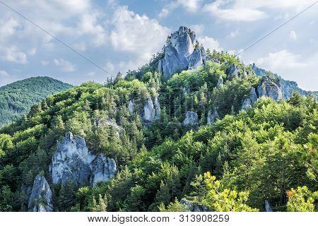 Sulov Rocks, Slovak Republic. Seasonal Natural Scene. Hiking Theme.