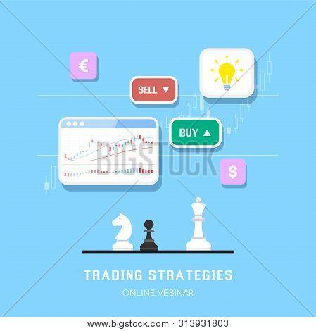 Stock Market Trading Strategies Banner Design Fo Online Webinar Or Online Post. Stock Market Analysi