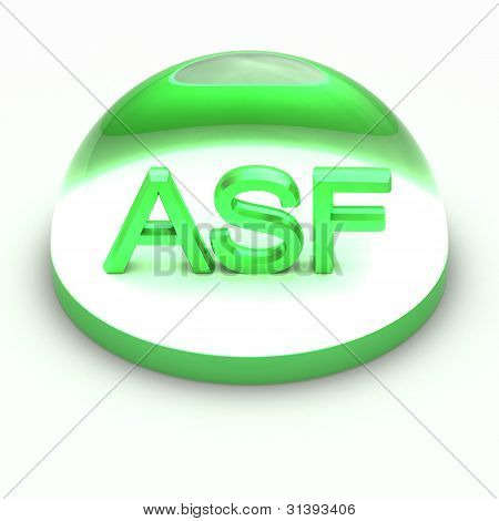 3D Style file format icon over white background - ASF poster