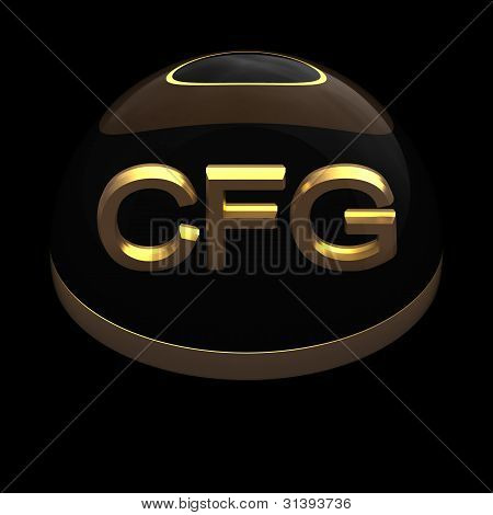 3D Style file format icon over black background - CFG poster