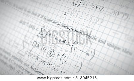 Fictional Math Research Paper With Formulas, Concept Of Science And School