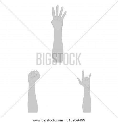 Bitmap Design Of Animated And Thumb Icon. Collection Of Animated And Gesture Stock Symbol For Web.