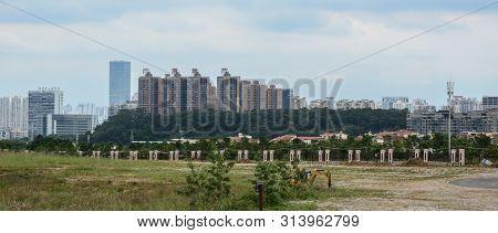 Nanning, China - Nov 1, 2015. Cityscape Of Nanning, China. Nanning Is A Large, Modern City And A Tra