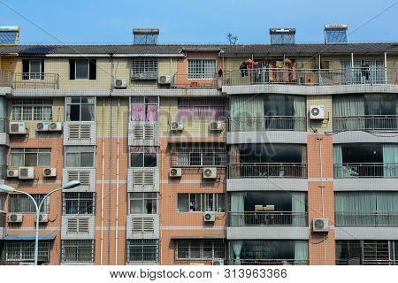 Nanning, China - Nov 1, 2015. An Apartment In Nanning, China. Nanning Is A Large, Modern City And A