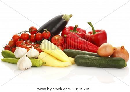 Colorful Vegetable Arrangement