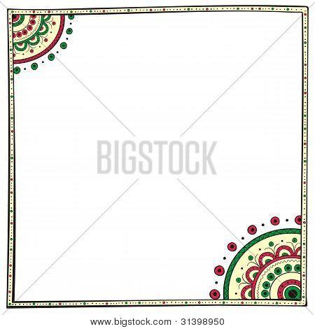 Ethno border design element - vector
