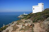 South Stack island and lighthouse off the Isle of Anglesey poster