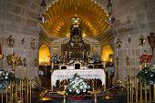 Inside Caravaca De La Cruz church, Pilgrimage site near Murcia, in Spain poster