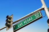 street  Las Vegas Boulevard in Las Vegas, USA poster