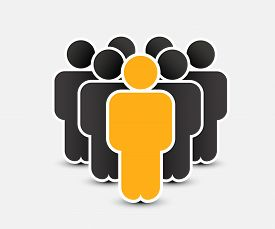 People Icon In Trendy Flat Style. Persons Symbol For Your Infographics Website Design, Logo. Crowd S