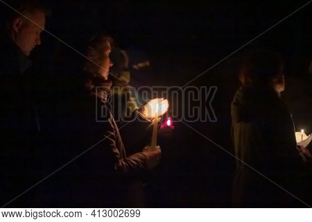 Minsk, Belarus - October 29, 2020: Spectators At Literary Evening In Memory Of Repressed Victims Of