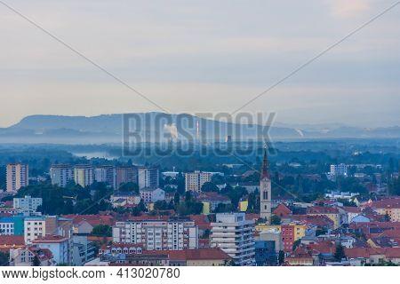 Cityscape Of Graz, View From Shlossberg Hill, Graz, Styria Region, Austria