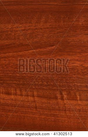 A close up of mahogony teak or stained wood grain for website wallpaper or background poster