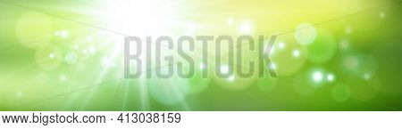 Glowing Green Background. Abstract Green Bokeh Background. Gradient Background,  Abstract Green Blur