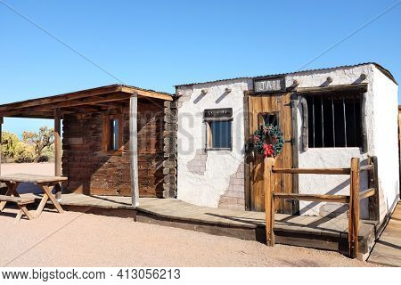 APACHE JUNCTION, ARIZONA - DECEMBER 8, 2016: Jail at the Superstition Mountain Museum in Apache Junction, Arizona.