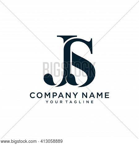 Alphabet Letters Initials Monogram Logo Js Or Sj, J And S.illustration Vector