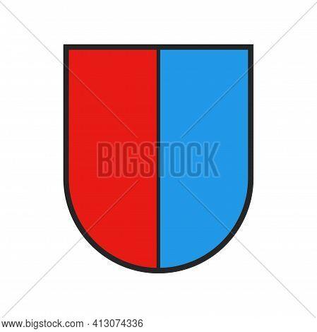 Switzerland Canton Flag, Swiss State Ticino Coat Of Arms Shield, Vector Heraldry Sign. Schweiz Kanto