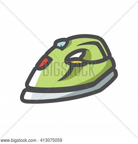 Iron Ironing Device Vector Icon Cartoon Illustration