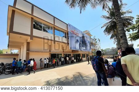 Bangalore, Karnataka, India-march 13 2021: Exterior Closeup View Of Sandalwood Actor Challenging Sta