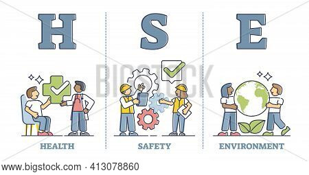 Hse As Health, Safety And Environment Protection Standard Outline Diagram