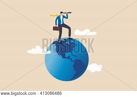 Globalization, Global Business Vision, World Economics Or Business Opportunity Concept, Smart Busine