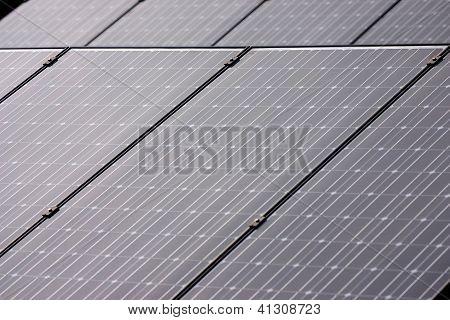 Solar photovoltaic panels closeup