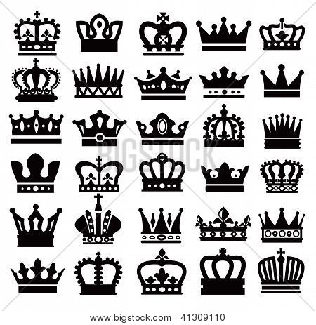 Simple crown black and white