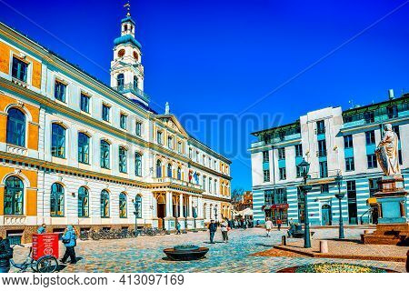 Town Hall (riga) - A Building That Served As The Residence Of The Riga City Government (riga City Co