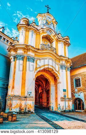Gates Of Dawn Is A Street In The Historic Part Of The Old City Of Vilnus. Lithuania.