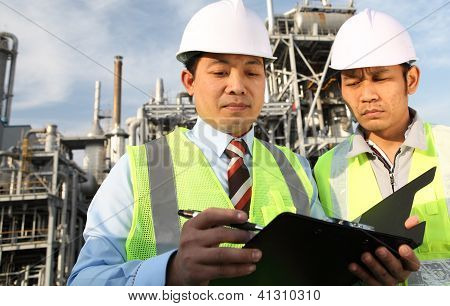 Two Engineer Discussing A New Project